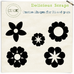 CU Flowers Free Photoshop Custom Shapes