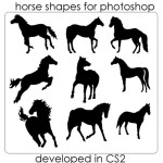 Horse Photoshop Shapes by: ecovers