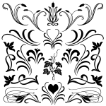 Floral Flourish Photoshop Custom Shapes