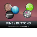 Customizable Pins Buttons Flair PSD