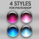 4 Orb Styles for Photoshop