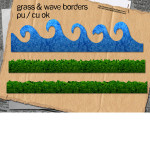 Grass + Wave Borders Custom Shapes