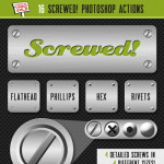 16 Screw Photoshop Actions