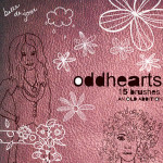 Free Doodle Brushes by: Oddhearts