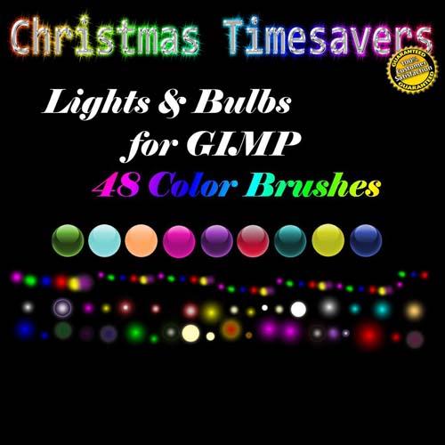 Stadium Lights Photoshop Brush: Christmas Lights Bulbs Orb Brushes By: Kelzygrl