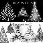 Christmas Tree Brushes by: Lileya