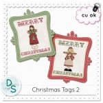 CU Christmas Tags by: Delicious Scraps