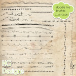 Doodle Line Brushes by: HG Designs