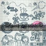 Cute Doodle Brushes by: MyShinyBoy