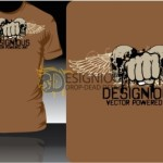T Shirt Design Vector 2 by: Designious