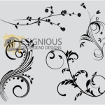 Floral Vectors by: Designious