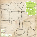 Doodle Frame Brushes by: HG Designs