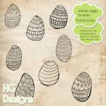 Easter Egg Doodle Brushes by: HG Designs