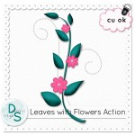 Flowers & Leaves Action by: Delicious Scraps