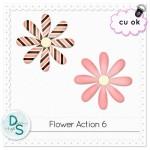 CU Flower Action by: Delicious Scraps