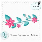 CU Flower Decoration Action by: Delicious Scraps