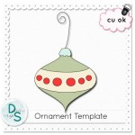 Free CU Ornament Template by: Delicious Scraps
