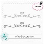 Free CU Wire Decoration by: Delicious Scraps