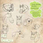 Horse Doodles by: HG Designs