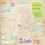 Love Word Brushes by: HG Designs