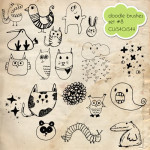 Doodle Brush Set 8 by: HG Designs