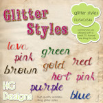 Free Glitter Styles by: HG Designs