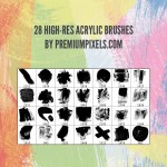 High Res Acrylic Brushes by: Premium Pixels