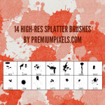 High Res Spatter Brushes by: Premium Pixels