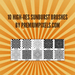 High Res Sunburst Brushes by: Premium Pixels