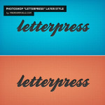 Letterpress Layer Style by: Premium Pixels
