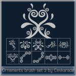 Ornaments Brush Set 2 by: Cevkarade