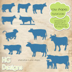 Cow CSH Shapes by: HG Designs