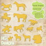 Horse Shapes by: HG Designs