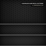 8 Dark Metal Patterns by: Premium Pixels