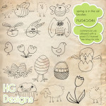 Spring Doodle Brushes by: HG Designs
