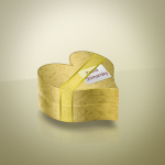 Golden Heart-Shaped Box by: Shimpa