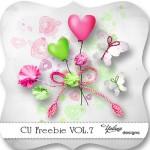 CU Digiscrap Freebie – Heart – Butterflies