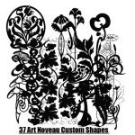Art Noveau Free Custom Shapes