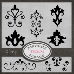 Vintage Damask Gimp Brushes by: MarmiteMamie