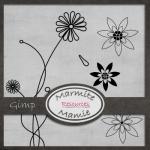 Garden Floral Brushes by: MarmiteMamie