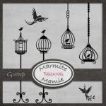 Birds & Bird Cage Gimp Brushes