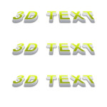 3D Photoshop Text Effect Tutorial