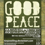 Free Font: GoodPeace by: Dirt2