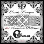 Classic Baroque Free Seamless Pattern