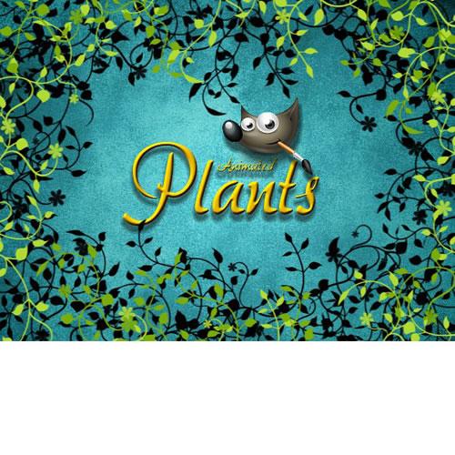 Gimp animated plants brushes design share