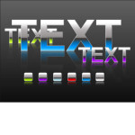 Shiny Photoshop Text Styles