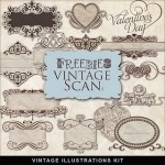 Freebie Vintage Elements PNGs