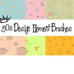 50's Design Element Gimp Brushes
