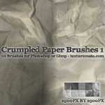 Crumpled Paper Brush for PS or Gimp