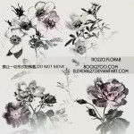Free Vintage Floral Photo Shop Gimp Brushes